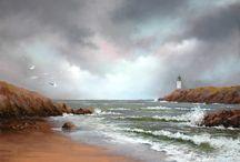 Peinture de la mer