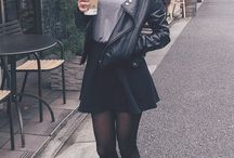 Outfit black mini skirt