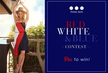 Red, White & Blue / #ThreeDotsUSA #Contest  / by Carol