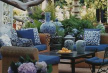 Cushions outdoors