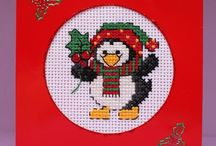 crossstich christmas card