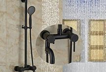 """8"""" Round Rain Shower Head Oil Rubbed Bronze Wall Mouted Shower Mixer Tap Tub Spout W/ Hand Shower"""