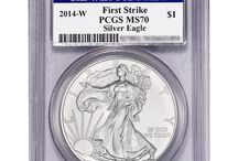 2014 W PCGS Burnished Silver American Eagles / 2014 W PCGS Burnished Silver American Eagles