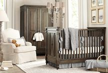 """Alex's Nursery / Vintage, Rustic, Timeless, Eclectic, Neutral, and Masculine.    Grey walls, navy and cream accents, and little bits of lime""""ish"""" green and brown. / by h c"""