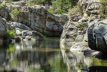 """Histoire d'eau """" Cascades """" / Des chutes d'eau dans la nature sauvage."""