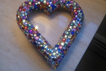Diy Designs / Heart shape designed with beads of all sizezs / by Michelle Serbst  Realtor Century 21 Associates