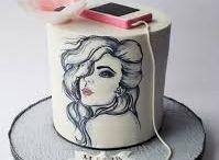 Kreslené na torte