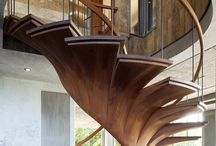Stairs and Railings that lead to creative spaces