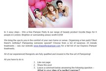 Competitions! Pamper Party Brighton & London
