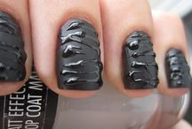 Black Nails / Black nails , uñas negras, fotos de uñas, #nails #black #nailart