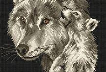 Bügelperlen Wölfe