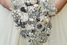 Vintage brooch bouquet  / by Maria Bertrand