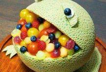 Morsom sun mat og dessert til barna