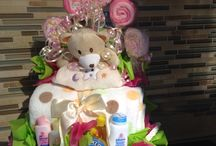 Baby basket / Baby shower for a girl