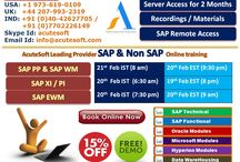 Get 15% OFF on all SAP Modules from AcuteSoft Online Training with Project Case Studies