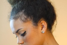 curly hair up