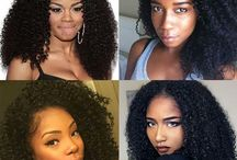 Lace front wig afro kinky