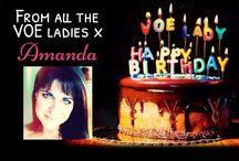 Happy Birthday Amanda Carrington / Collection of birthday wishes for Amanda's birthday today!
