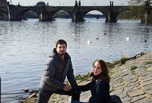Lovestory в Праге. Апрель 2015 г. www.fotoelena.com / Ранним апрельским утром, когда Прага еще не заполнена толпами туристов, я встретилась с Наташей и Сергеем, чтобы провести фото прогулку. www.fotoelena.com