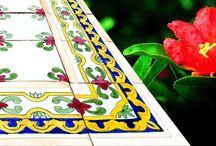 Hand made ceramic tiles / Χειροποίητα κεραμικά πλακάκια