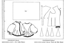 17th century Patterns clothes and accessories