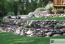 kámen,dřevo zahrada