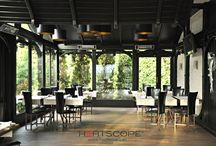 Restaurant - outdoor heating / For restaurants every warm day counts. With HEATSCOPE infrared heaters, you can extend the outdoor season by valuable days and weeks in spring and fall. Heating for restaurants,