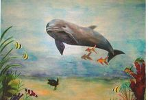Underwater Mural Scenes / Murals with an underwater theme for both residential and commercial clients