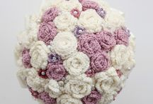 Crochet wedding bouquets