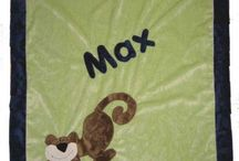 Monkey Baby Gifts / Everyone loves monkeys. Personalized monkey towels , belly blankets and toys for baby shower and baby gifts.
