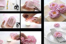 flowers / fiori di carta e altri materiali