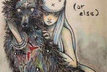 звездный волк и девушка -кролик