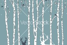trees - aspen and birch