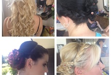 My work / My creations, up styles, extensions, cuts and colours