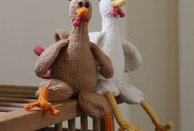 knitted toys and accessories