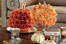 DIY Fall Decorations 2013 / We have mums, corn stalks, bales of Hay, cabbage, kale, pumpkins and Indian corn
