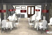 Bodega-Restaurante / Mob3des ha hecho este diseño para convertir un antiguo garaje en una bodega-restaurante.