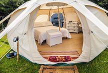 Yurt style tents