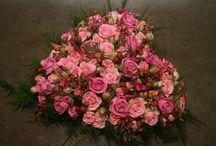 Rouwarrangementen roze