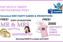 Offers & Freebies / Hen party, birthday party & stag do freebies to help you organise your perfect party!