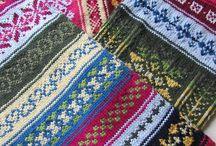 Шарфы. / Многоцветные двухсторонние  шарфы... схемы к шарфам..