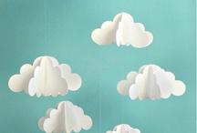 Anniversaire 2 ans Raphaël / Idées de décoration pour la fête d'anniversaire des 2 ans de Raphaël sur le thème nuages et étoiles.