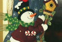 Fieltro bota de niño de nieve