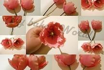 Холодный фарфор  Тюльпаны