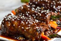 Teriyaki steak roll ups