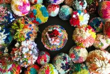Pompom Project / I started out by creating 100 pompoms for the #the100dayproject on Instagram, led by Elle Luna. Then I kept creating more and more pompoms!