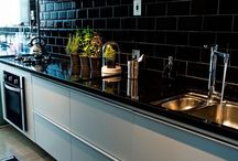 kitchens with black