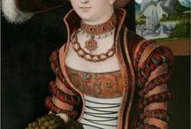 Cranach Gown Inspiration / Inspiration board for a Cranach style 16th century Saxon court gown.