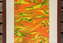 Ebru Marbling Paintings / Paintings