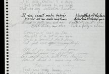 Prince songs & others handwriting❣❤☿
